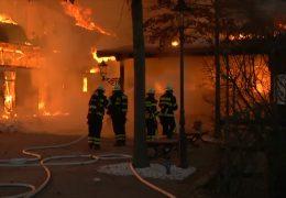 Brand auf Olympia-Gestüt Erlenhof