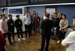 Unterricht an der Frankfurter Börse