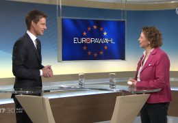 Studiogespräch zur Europawahl mit der FDP-Spitzenkandidatin Nicola Beer