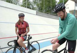 Bahnradfahren mit Miriam Welte
