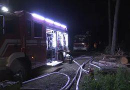 Waldbrand am Munitionsdepot in Münster