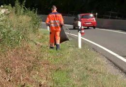 Immer mehr Müll an den deutschen Autobahnen