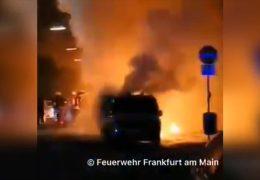 In Frankfurt brennen sieben Autos in einer Nacht