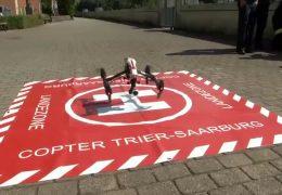 Drohne hilft bei der Brandbekämpfung