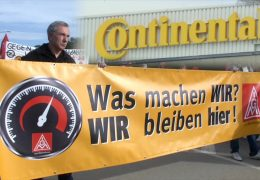 Proteste bei Continental wegen Jobverlust