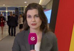 Unsere Reporterin Melanie May auf dem Bundesparteitag