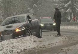 Wintereinbruch – einwenig Schnee, ein wenig Chaos