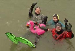 Abschwimmen und Gardeumzug in Mainz