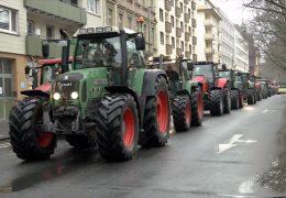 Hunderte Bauern demonstrieren wieder in Mainz