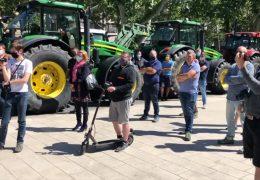 Bauern demonstrieren in Mainz und Wiesbaden