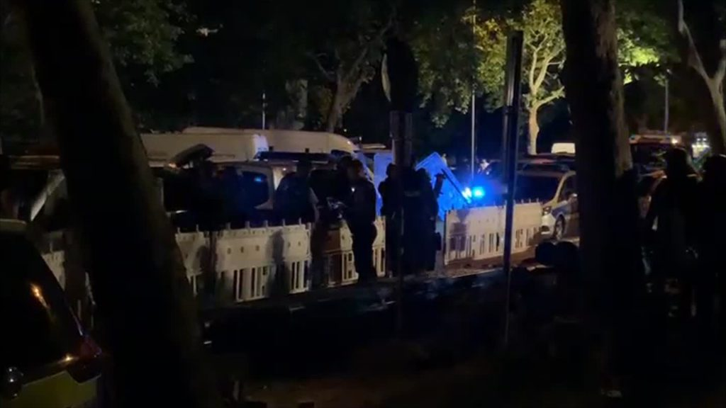 Randalierer locken Polizisten in Hinterhalt
