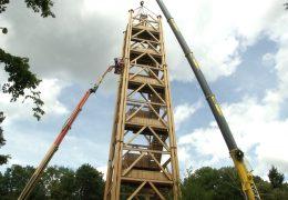 Nach Brand: Neuer Goetheturm steht