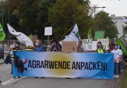 Agrarministerkonferenz – Landwirte protestieren in Koblenz