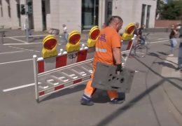 Frankfurter Mainkai: Die Autos rollen wieder