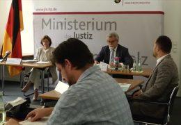 Justizminister stellt Strafverfolgungsstatistik vor