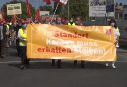 Proteste gegen Stellenabbau bei Continental