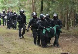 A49 – Rodung geht unter Polizeischutz weiter