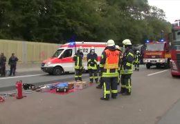Schwerer Unfall nach Protestaktion auf der A3