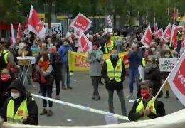 Streiks im öffentlichen Dienst – Demonstrationen in Frankfurt