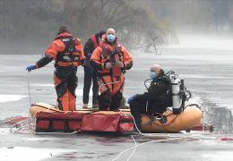 Vorsicht dünnes Eis – Feuerwehr probt Eisrettung