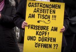 Mahnwache in Trier – Gastwirte fordern Öffnungsperspektive
