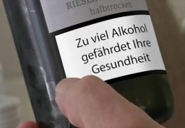 Diskussion um Warnhinweise auf alkoholischen Getränken