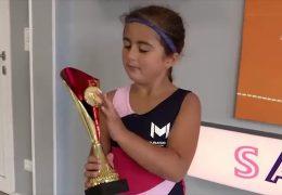 7-jährige plant ihre Tenniskarriere