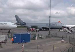 Jumbo muss auf Flughafen Hahn notlanden
