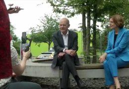 SPD-Kanzlerkandidat Olaf Scholz auf Stimmenfang