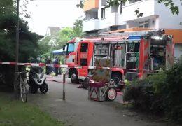Brand in Frankfurt – Mann stürzt in den Tod