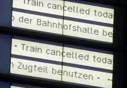 Massive Zugausfälle – Lokführer streiken bundesweit