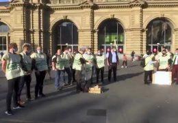 Lokomotivführer setzen Streik fort