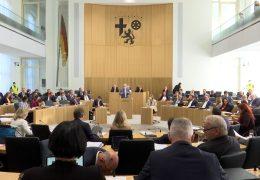Erste Sitzung im renovierten Landtag