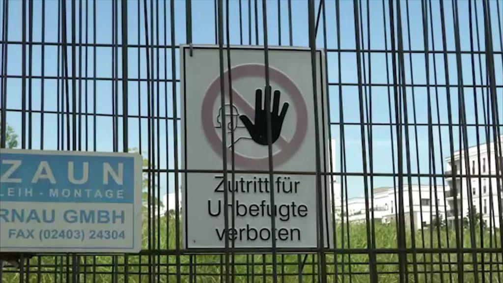 Betreten verboten: Europagarten in Frankfurt bleibt weiter geschlossen