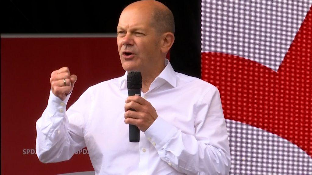 Kanzlerkandidat Scholz auf Wahlkampftour an der Weinstraße