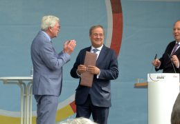 Bundestagswahlkampf von Kanzlerkandidat Armin Laschet in Gießen