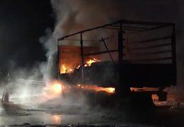 Schwerer LKW-Unfall auf der A 66
