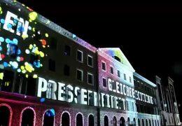 Lichtprojektion zum 75. Geburtstag des Landes Hessen