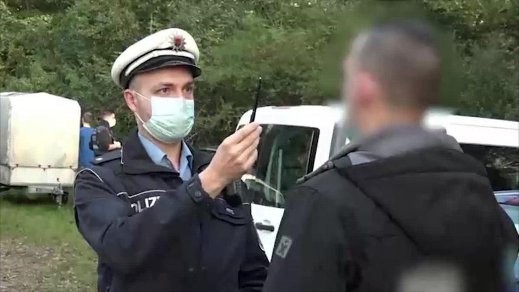 Polizeikontrolle an der deutsch-französischen Grenze